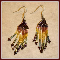 Magic Forest Beaded Earrings