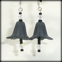 Black Gothic Drop Earrings