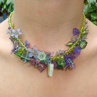 Purple Fairy Glen Garland Necklace