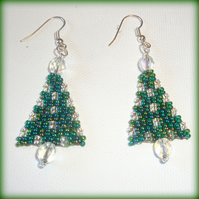 Tiny Christmas Tree Earrings
