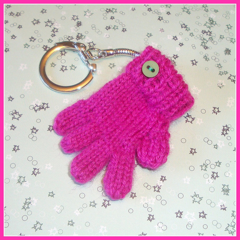 Hot Pink Tiny Glove Keyring