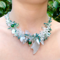 Jade Leaf Blossom Necklace