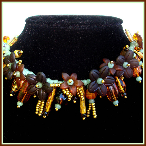 Amber Blossom Necklace