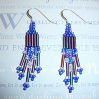 Hyacinth Blue Bead Earrings