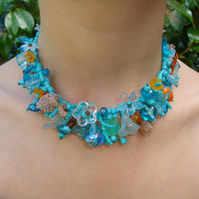 Turquoise Garland Bead Necklace