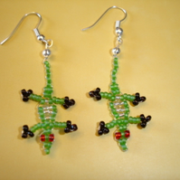 Lizard Earrings Beaded