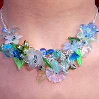 Blue Garland Necklace