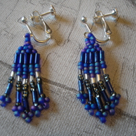 Hyacinth Screw on Earrings