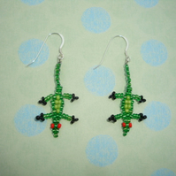 Beaded Lizard Earrings