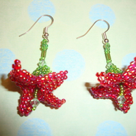 Amaryllis Beaded Earrings