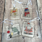 Father Christmas, Snowman, Fairy and Reindeer - Set of Four Hanging Decorations