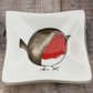Christmas Robin - Deep Christmas Decorative Fused Glass Dish - Trinket Sweets