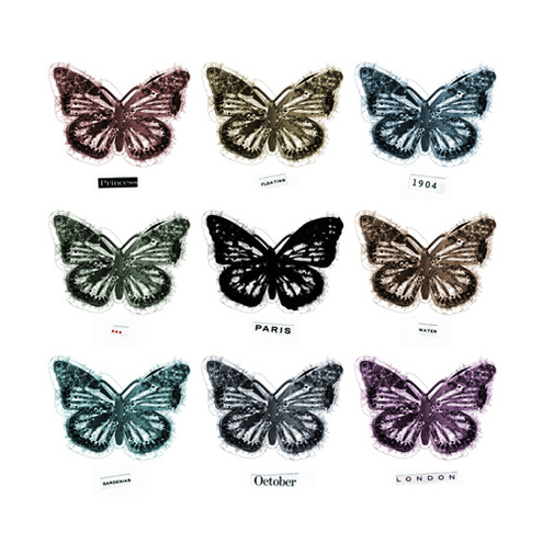 Butterfly Collection Print in Earth Tones 8.25x8.25""