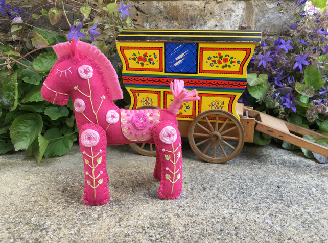 Fuchsia the Little Hand Embroidered Horse