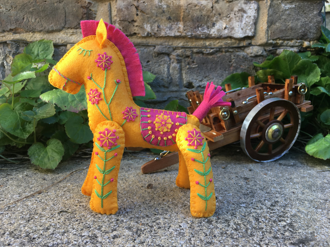 Tootie Fruitie the Little Hand Embroidered Horse