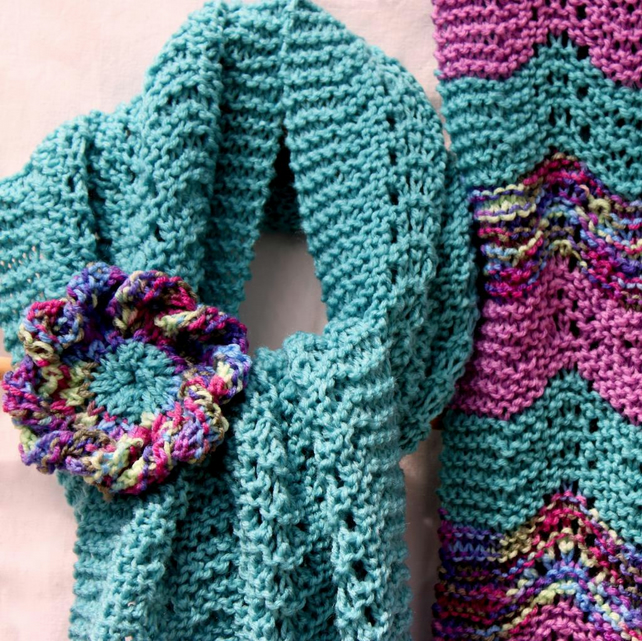 Knitting Pattern Spring Scarf : PDF Knitting Pattern for a Spring Lace Scarf an... - Folksy