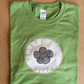 Birds Nest Fungus Nidulariaceae Appliqué t-shirt Adult GREEN in LARGE size