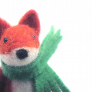 Needle Felted Fox , miniature animal , Home decor , Waldorf