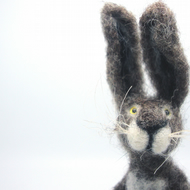 Needle Felted Hare, Celebration , Spring celebration , Hare , Waldorf Art