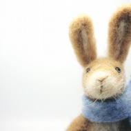 Needle Felted Rabbit , Celebration, Gift , Spring celebration, Nature Scene Deco