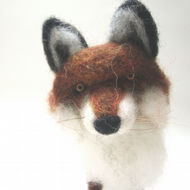 Needle Felted Fox , miniature animal , Home decor