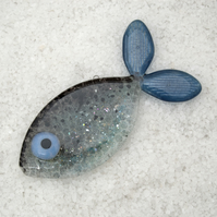 Fused Glass Sparkly Fish Decoration