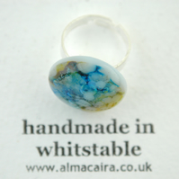 Fused Glass Bubble Ring