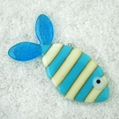 Stripy Fused Glass Fish Decoration