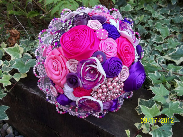 Lovestruck Fabric Embellished Bouquet