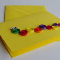 Quilled Catapillar Card