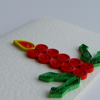 Quilled Candle With Holly