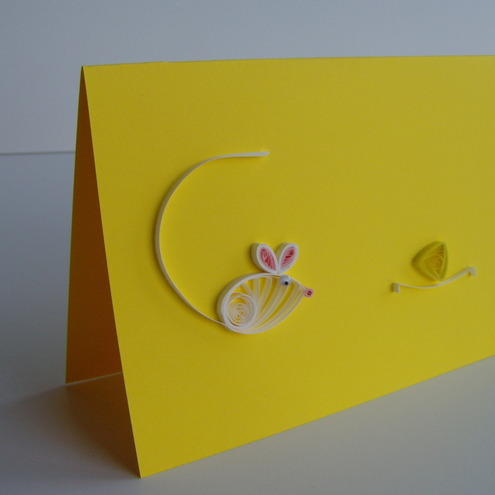 Quilled Mouse And Cheese Card