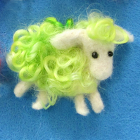 Sheep Brooch - Green