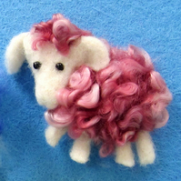 Sheep Brooch - Pink