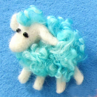 Sheep Brooch - Turquoise