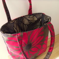 Floral Red Luxury Tote