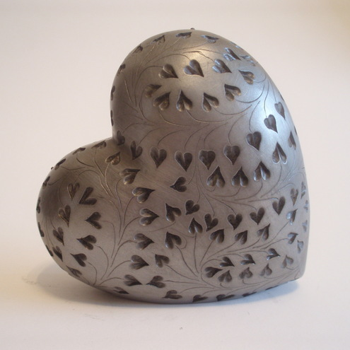 Small pewter heart
