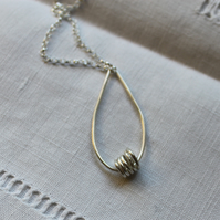 Silver Wire Necklace