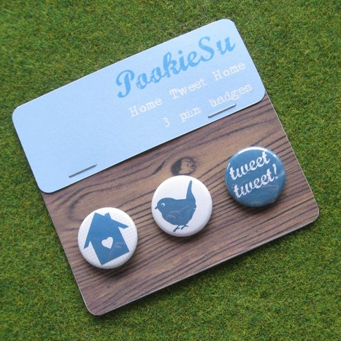 'Home Tweet Home' Pin Badges