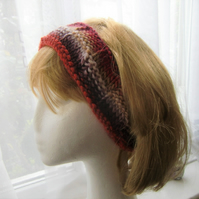 Hand knitted hairband