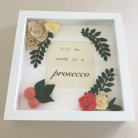 Box Frame 3D art Handmade Felt Flower Photo Frame