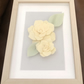 3D Art Box Frame Felt Flower Lemon Yellow