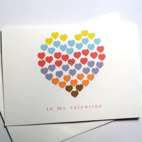 Hearts Valentine card