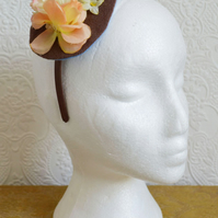 Handmade Fascinator 'Nutmeg'