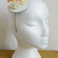Handmade Fascinator 'Soft Pink and Peach'