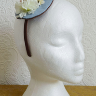 Handmade Fascinator 'Dusky Blue'