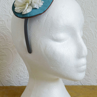Handmade Fascinator 'Teal'