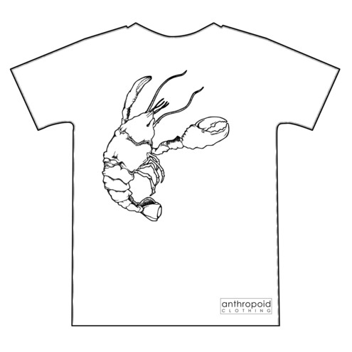 Lobster screenprinted tshirt
