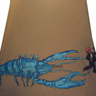 Lobster V Man hand drawn tshirt