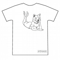 Pin up bear. Screenprinted tshirt